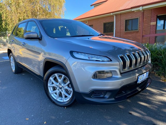 Used Jeep Cherokee KL Sport Glenorchy, 2014 Jeep Cherokee KL Sport Silver 9 Speed Sports Automatic Wagon