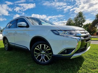 2016 Mitsubishi Outlander ZK MY16 LS 2WD White 6 Speed Constant Variable Wagon.
