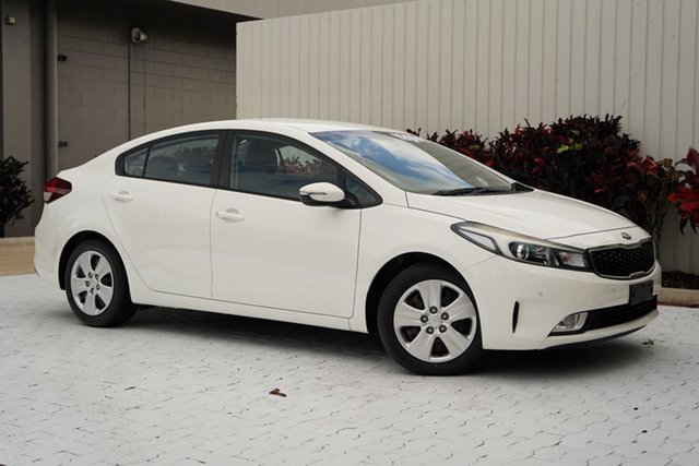 Used Kia Cerato YD MY17 S Cairns, 2016 Kia Cerato YD MY17 S White 6 Speed Sports Automatic Sedan