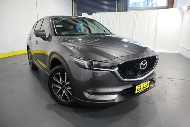 Used Mazda CX-5 KF4WLA GT SKYACTIV-Drive i-ACTIV AWD Castle Hill, 2018 Mazda CX-5 KF4WLA GT SKYACTIV-Drive i-ACTIV AWD Grey 6 Speed Sports Automatic Wagon