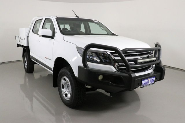 Used Holden Colorado RG MY17 LS (4x4) Bentley, 2017 Holden Colorado RG MY17 LS (4x4) White 6 Speed Automatic Crew Cab Chassis