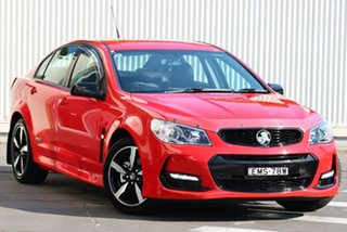 2016 Holden Commodore VF II MY16 SV6 Black Red 6 Speed Sports Automatic Sedan.
