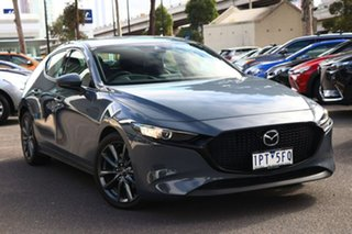2019 Mazda 3 BP2HLA G25 SKYACTIV-Drive GT Polymetal Grey 6 Speed Sports Automatic Hatchback.