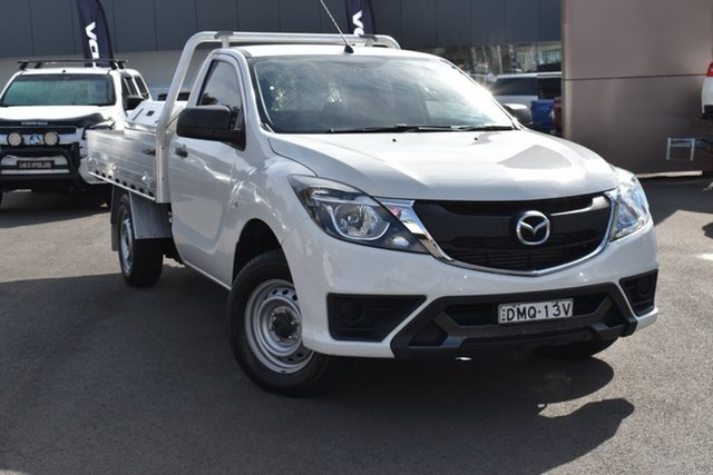 Used Mazda BT-50 UR0YE1 XT 4x2 Tuggerah, 2017 Mazda BT-50 UR0YE1 XT 4x2 White 6 Speed Manual Cab Chassis