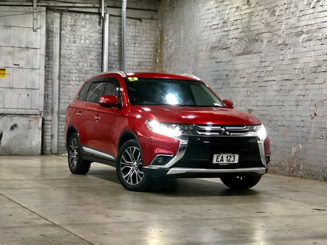Used Mitsubishi Outlander ZK MY16 Exceed 4WD Mile End South, 2015 Mitsubishi Outlander ZK MY16 Exceed 4WD Red 6 Speed Constant Variable Wagon