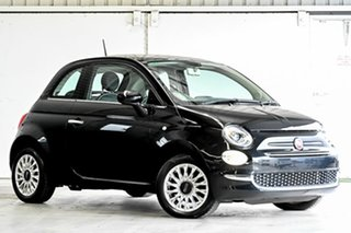 2015 Fiat 500 Series 4 Lounge Dualogic Black 5 Speed Sports Automatic Single Clutch Hatchback.