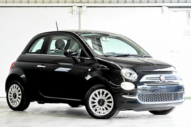 Used Fiat 500 Series 4 Lounge Dualogic Laverton North, 2015 Fiat 500 Series 4 Lounge Dualogic Black 5 Speed Sports Automatic Single Clutch Hatchback