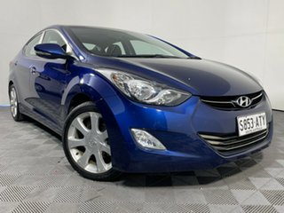 2012 Hyundai Elantra MD Elite Blue 6 Speed Sports Automatic Sedan.