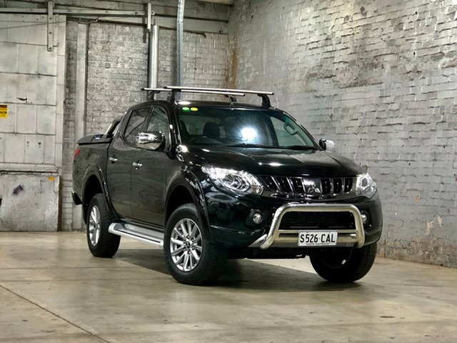 Used Mitsubishi Triton MQ MY18 GLS Double Cab Mile End South, 2018 Mitsubishi Triton MQ MY18 GLS Double Cab Black 5 Speed Sports Automatic Utility