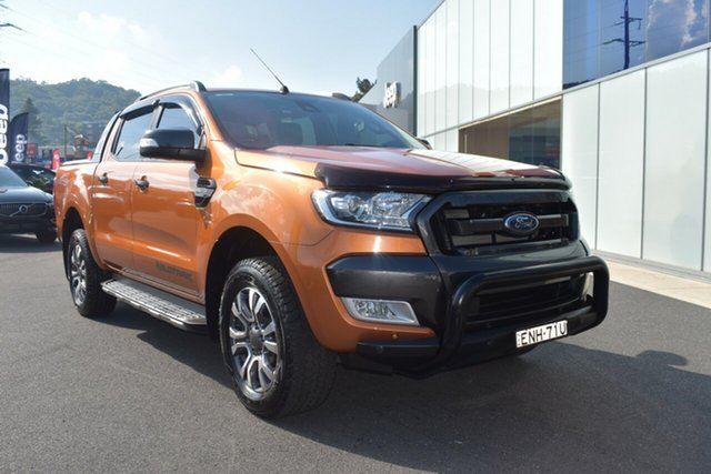 Used Ford Ranger PX MkII 2018.00MY Wildtrak Double Cab Gosford, 2017 Ford Ranger PX MkII 2018.00MY Wildtrak Double Cab Orange 6 Speed Sports Automatic Utility
