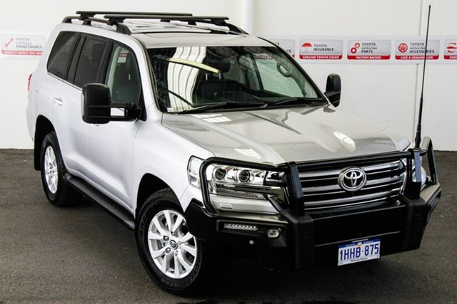 Pre-Owned Toyota Landcruiser VDJ200R VX Myaree, 2019 Toyota Landcruiser VDJ200R VX Silver Pearl 6 Speed Sports Automatic Wagon