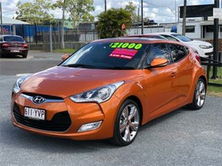 2013 Hyundai Veloster FS2 + Orange 6 Speed Sports Automatic Dual Clutch Hatchback.