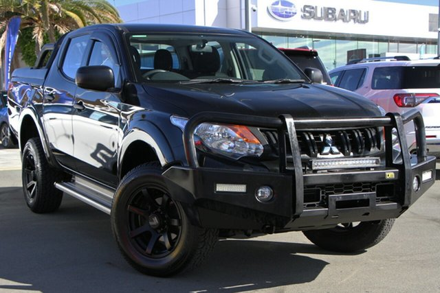Used Mitsubishi Triton MQ MY17 GLX Double Cab Aspley, 2017 Mitsubishi Triton MQ MY17 GLX Double Cab Black 6 Speed Manual Utility