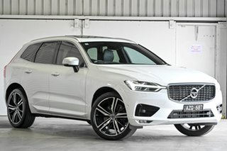 2018 Volvo XC60 UZ MY19 T6 AWD R-Design White 8 Speed Sports Automatic Wagon.