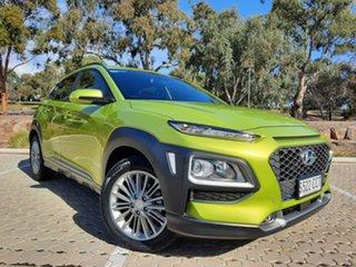 2018 Hyundai Kona OS MY18 Elite 2WD Green 6 Speed Sports Automatic Wagon.