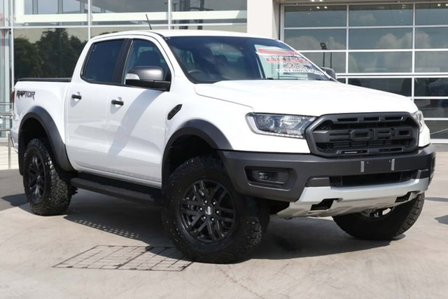 Used Ford Ranger PX MkIII 2019.75MY Raptor Liverpool, 2019 Ford Ranger PX MkIII 2019.75MY Raptor Arctic White 10 Speed Sports Automatic Double Cab Pick Up