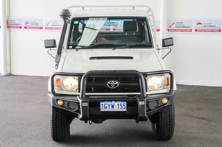 2013 Toyota Landcruiser VDJ79R MY12 Update GX (4x4) French Vanilla 5 Speed Manual Cab Chassis.