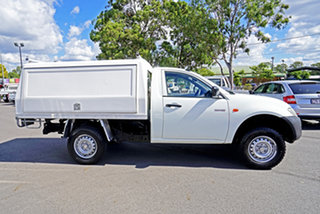 2008 Mitsubishi Triton ML MY09 GL 4x2 White 5 Speed Manual Cab Chassis