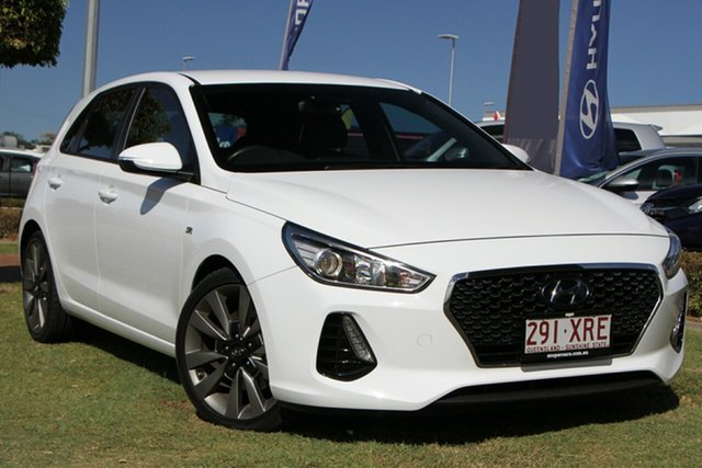 Used Hyundai i30 PD MY18 SR D-CT Aspley, 2017 Hyundai i30 PD MY18 SR D-CT White 7 Speed Sports Automatic Dual Clutch Hatchback