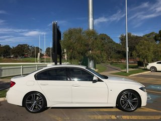 2016 BMW 3 Series F30 LCI 320d M Sport White 8 Speed Sports Automatic Sedan.