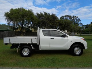 2014 Mazda BT-50 UP0YF1 XT Freestyle 4x2 Hi-Rider White 6 Speed Manual Cab Chassis