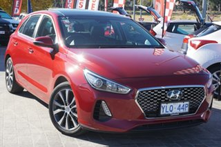 2017 Hyundai i30 PD MY18 Premium D-CT Fiery Red 7 Speed Sports Automatic Dual Clutch Hatchback.