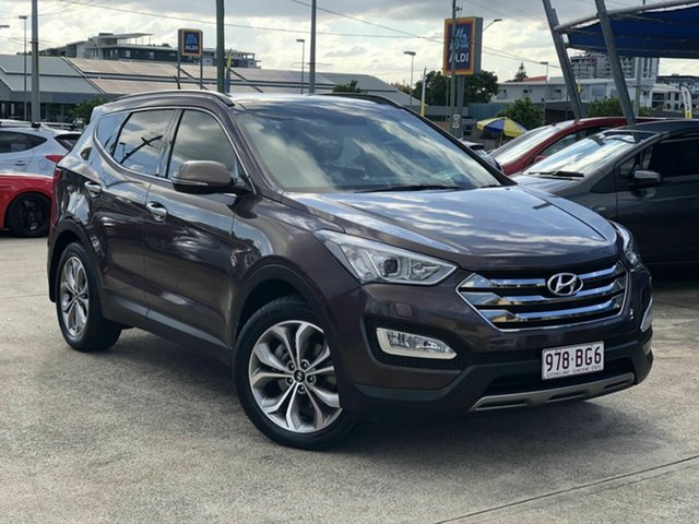 Used Hyundai Santa Fe DM2 MY15 Highlander Chermside, 2014 Hyundai Santa Fe DM2 MY15 Highlander Bronze 6 Speed Sports Automatic Wagon