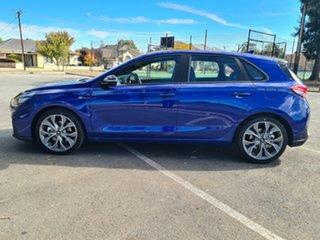 2020 Hyundai i30 PD.V4 MY21 N Line D-CT Intense Blue 7 Speed Sports Automatic Dual Clutch Hatchback