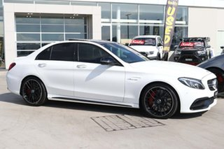 2015 Mercedes-Benz C-Class W205 C63 AMG SPEEDSHIFT MCT S Polar White 7 Speed Sports Automatic Sedan.