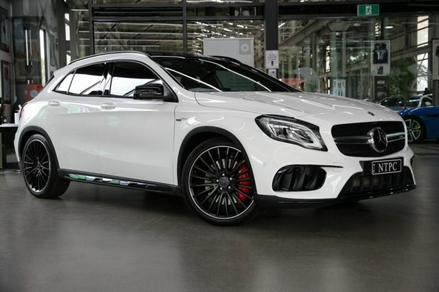 Used Mercedes-Benz GLA-Class X156 809MY GLA45 AMG SPEEDSHIFT DCT 4MATIC North Melbourne, 2018 Mercedes-Benz GLA-Class X156 809MY GLA45 AMG SPEEDSHIFT DCT 4MATIC White 7 Speed