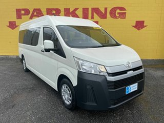 2020 Toyota HiAce GDH322R Commuter High Roof Super LWB GL White 6 Speed Sports Automatic Bus.