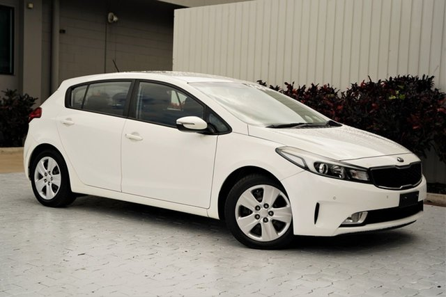 Used Kia Cerato YD MY16 S Cairns, 2016 Kia Cerato YD MY16 S White 6 Speed Sports Automatic Hatchback