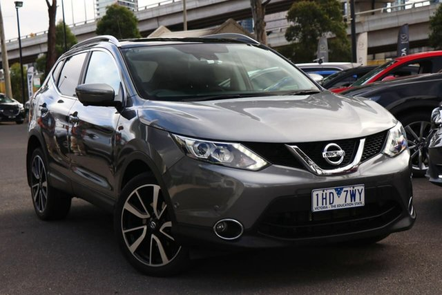 Used Nissan Qashqai J11 TI South Melbourne, 2016 Nissan Qashqai J11 TI Gun Metallic 1 Speed Constant Variable Wagon