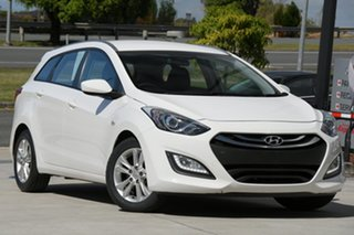 2012 Hyundai i30 GD Active Tourer White 6 Speed Sports Automatic Wagon.