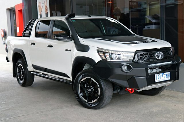 Pre-Owned Toyota Hilux GUN126R Rugged X Double Cab Preston, 2019 Toyota Hilux GUN126R Rugged X Double Cab Glacier White 6 Speed Sports Automatic Utility