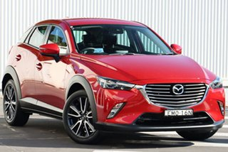 2017 Mazda CX-3 DK4W7A sTouring SKYACTIV-Drive i-ACTIV AWD Soul Red 6 Speed Sports Automatic Wagon.
