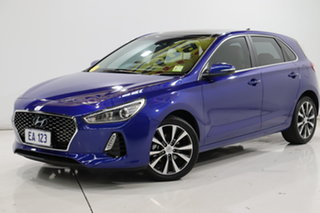 2019 Hyundai i30 PD2 MY20 Elite Blue 6 Speed Sports Automatic Hatchback.