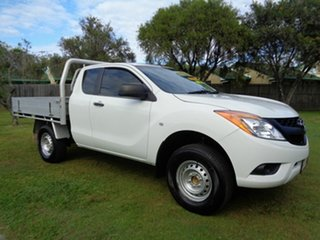 2014 Mazda BT-50 UP0YF1 XT Freestyle 4x2 Hi-Rider White 6 Speed Manual Cab Chassis.