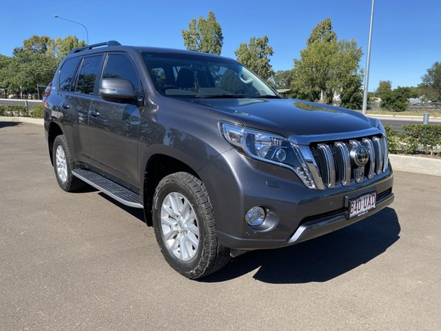 Pre-Owned Toyota Landcruiser Prado GDJ150R MY16 Kakadu (4x4) Chinchilla, 2015 Toyota Landcruiser Prado GDJ150R MY16 Kakadu (4x4) Graphite 6 Speed Automatic Wagon