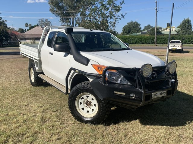 Used Mazda BT-50 UP0YF1 XT Freestyle Moree, 2014 Mazda BT-50 UP0YF1 XT Freestyle White 6 Speed Manual Cab Chassis