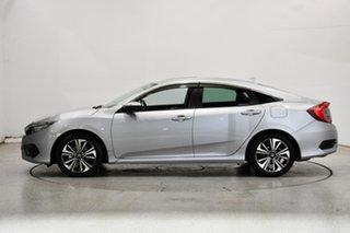 2016 Honda Civic 10th Gen MY16 VTi-LX Silver 1 Speed Constant Variable Sedan.