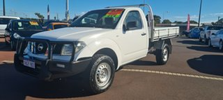 2011 Nissan Navara D40 MY11 RX White 6 Speed Manual Cab Chassis