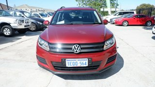 2013 Volkswagen Tiguan 5N MY14 118TSI DSG 2WD Red 6 Speed Sports Automatic Dual Clutch Wagon.