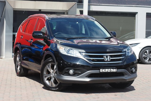 Used Honda CR-V RM MY15 VTi-L 4WD Parramatta, 2014 Honda CR-V RM MY15 VTi-L 4WD Black 5 Speed Sports Automatic Wagon