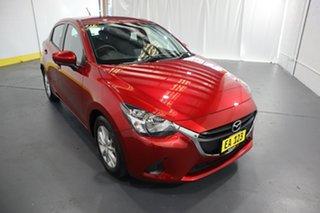 2019 Mazda 2 DJ2HAA Maxx SKYACTIV-Drive Red/Black 6 Speed Sports Automatic Hatchback.