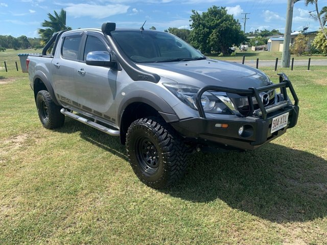 Used Mazda BT-50 Bowen, 2017 Mazda BT-50 XTR Silver 6 Speed Manual Dual Cab
