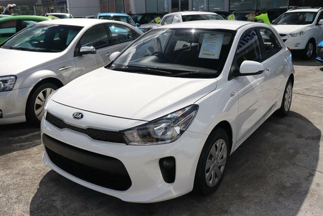 Used Kia Rio YB MY20 S Augustine Heights, 2019 Kia Rio YB MY20 S Clear White 4 Speed Sports Automatic Hatchback