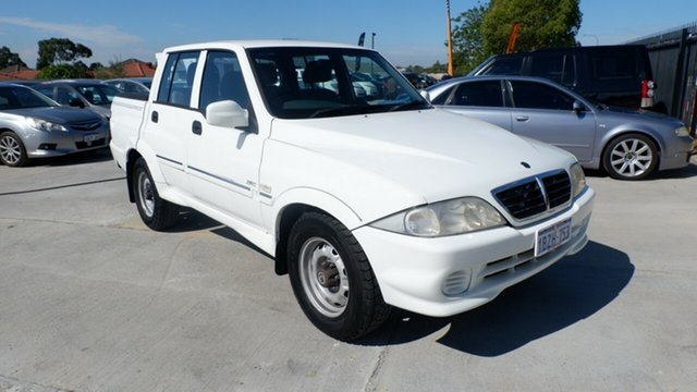 Used Ssangyong Musso Sports 4x2 St James, 2005 Ssangyong Musso Sports 4x2 White 5 Speed Manual Utility