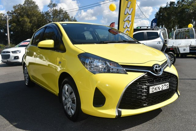 Used Toyota Yaris NCP130R Ascent Gosford, 2015 Toyota Yaris NCP130R Ascent Yellow 4 Speed Automatic Hatchback
