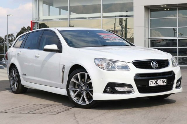 Used Holden Commodore VF MY15 SS V Sportwagon Liverpool, 2015 Holden Commodore VF MY15 SS V Sportwagon White 6 Speed Sports Automatic Wagon